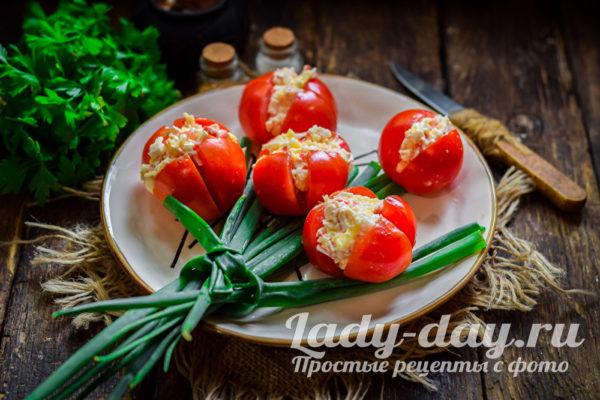 Закуска Тюльпаны из помидоров