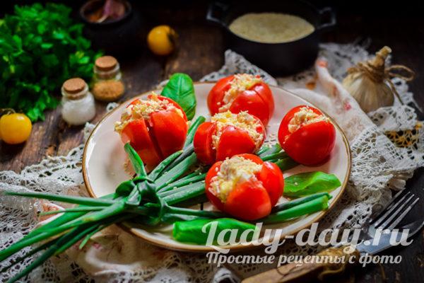 оригинальная закуска из томатов