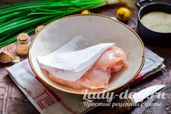 промыть филе