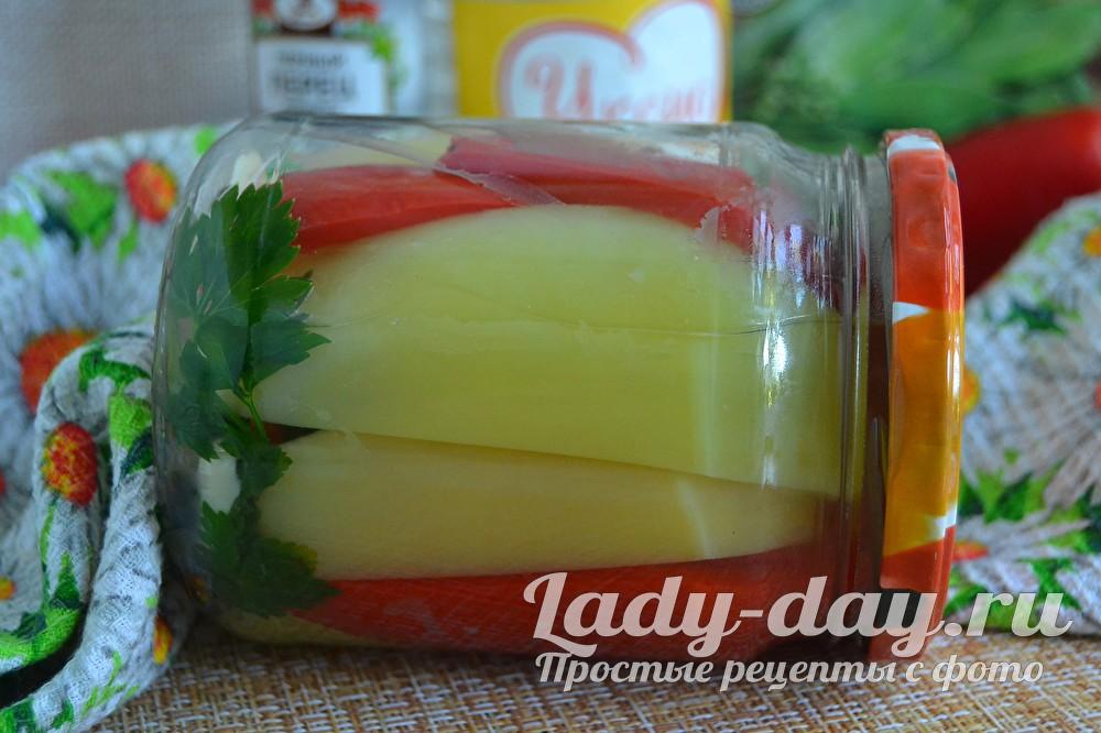 Болгарский перец на зиму, рецепт приготовления с растительным маслом