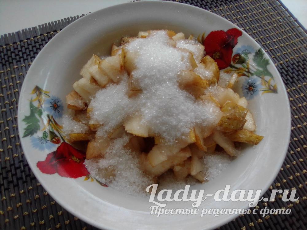 груши с сахаром