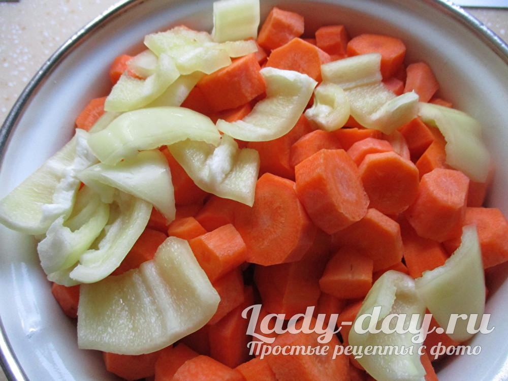 перец и морковь