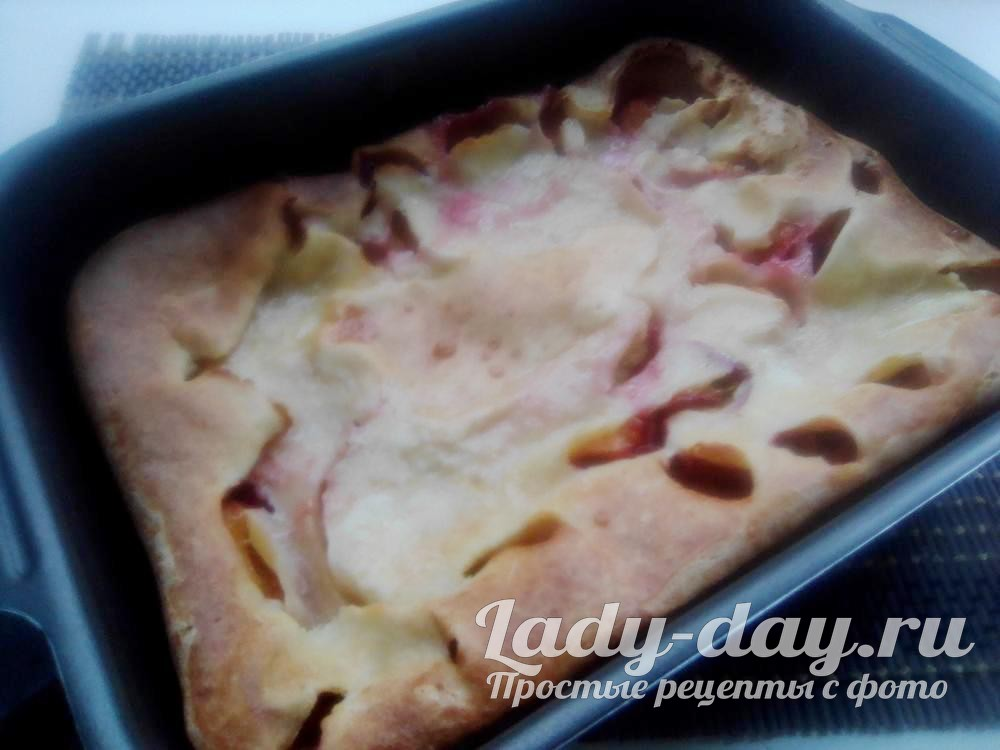 сливовый пирог рецепт с фото пошагово простой рецепт