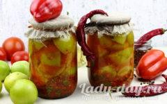 Маринованные зеленые помидоры на зиму, рецепт