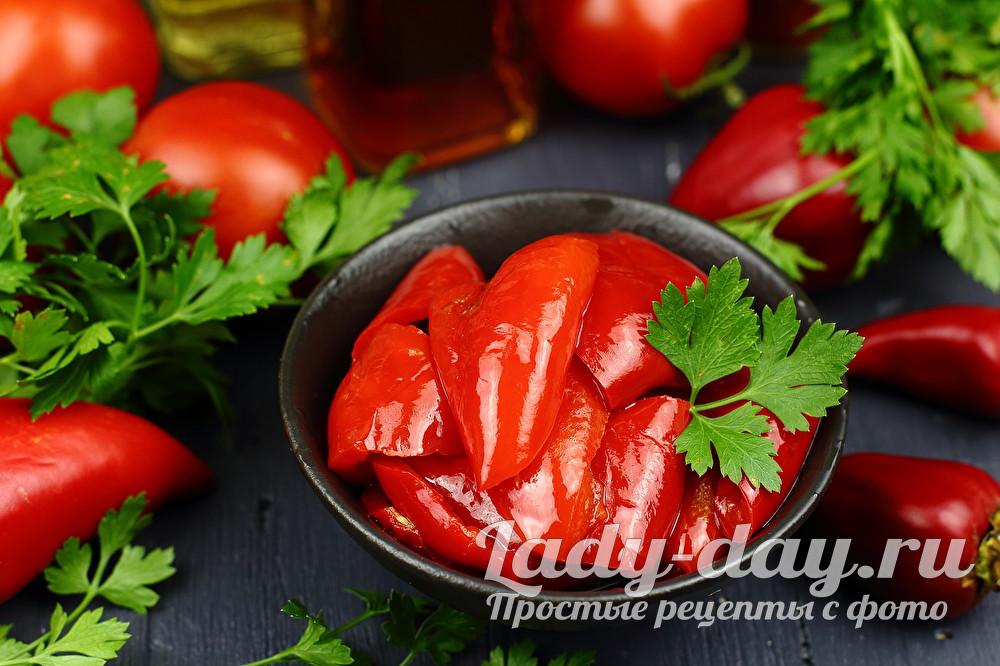 маринованный болгарский перец рецепт с фото