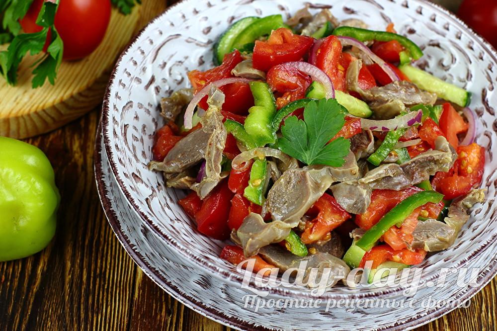 салат с куриными желудками рецепт с фото очень вкусный