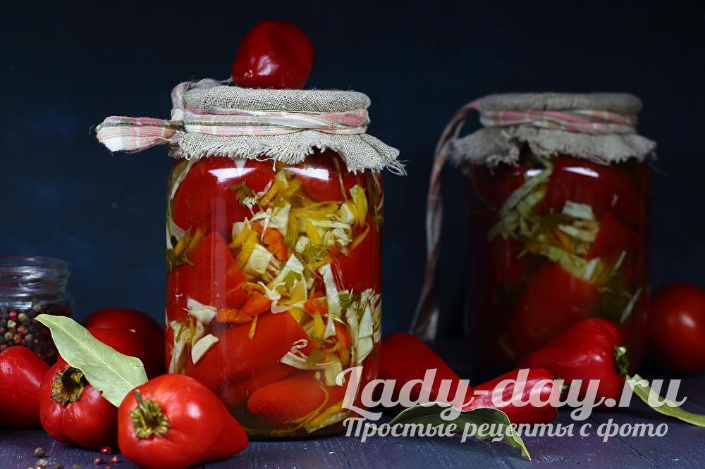 перец фаршированный овощами по-болгарски из советских времен