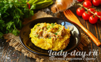 еда из картошки и мяса