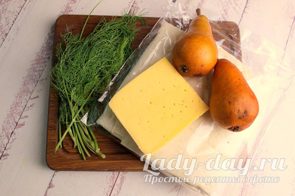 сыр и груши