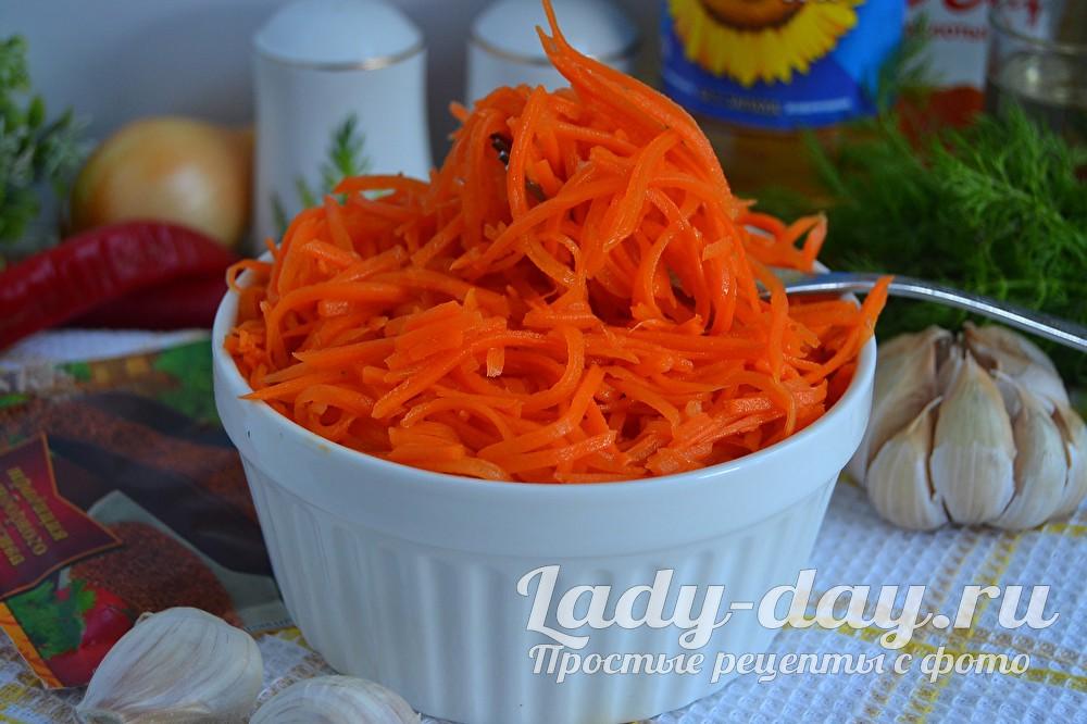 Морковь по-корейски - самый вкусный рецепт быстрого приготовления