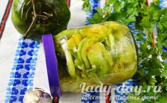 салат из зеленых помидоров на зиму фото