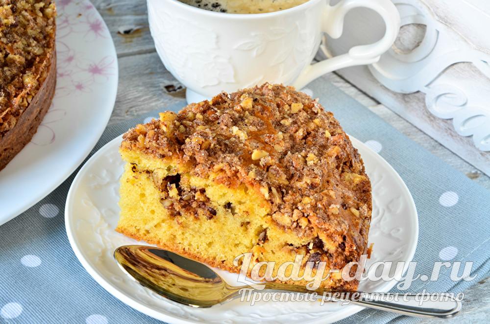 Ореховый пирог с грецкими орехами, простой рецепт