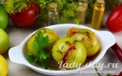 квашеные зелёные помидоры на зиму в ведре