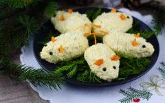 Закуска в виде мышки на Новый год 2020