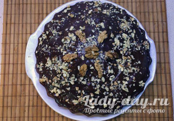 Пирог Зебра с глазурью