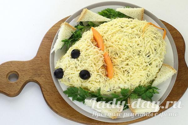 Новогодний салат крыса фото