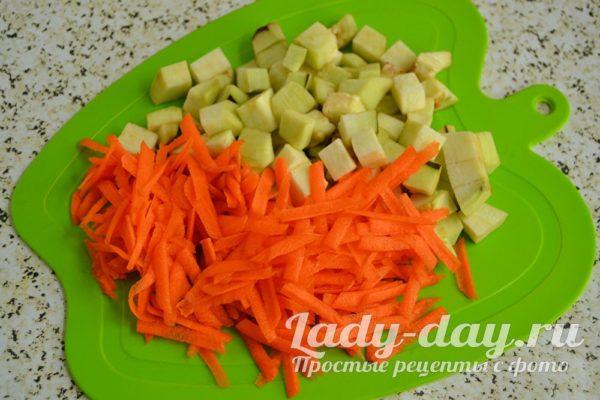 баклажан морковь