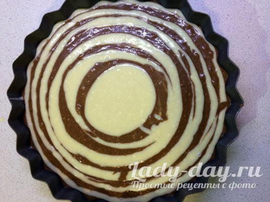 Пирог Зебра в духовку