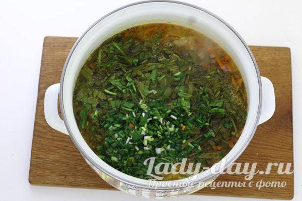 щавель в суп