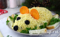 Новогодний салат «крыса»