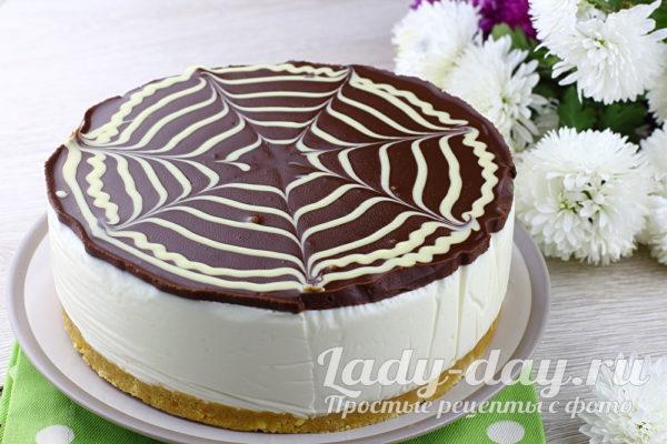 Торт Пломбир без выпечки фото