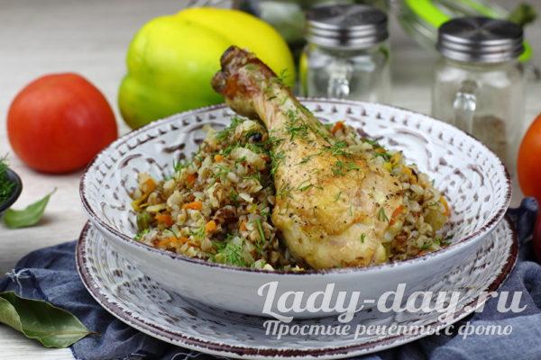 Гречка с курицей в духовке, рецепт самый вкусный