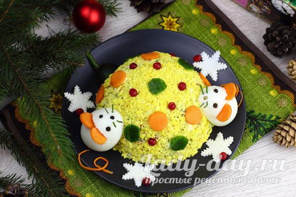 Новгодний салат «Ёлочная игрушка»