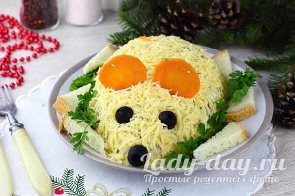 Новогодний салат «крыса» рецепт с фото
