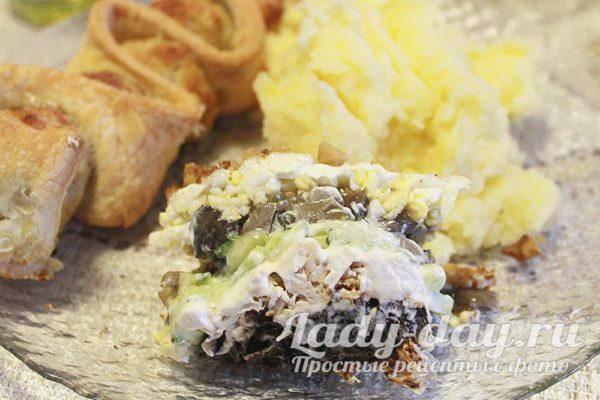 Салат Царский пир с курицей
