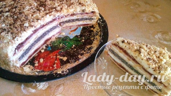 торт с вишней и маком