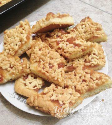 пирог с джемом рецепт с фото пошагово в духовке