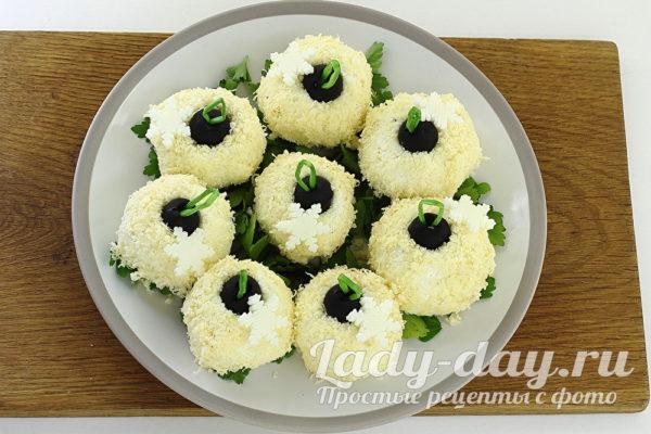 новогодняя закуска - сырные шарики, рецепт