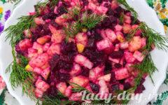 салат со свеклой и картошкой