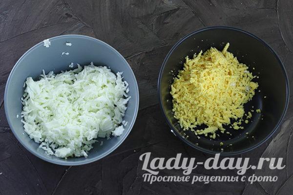 желтки и белок