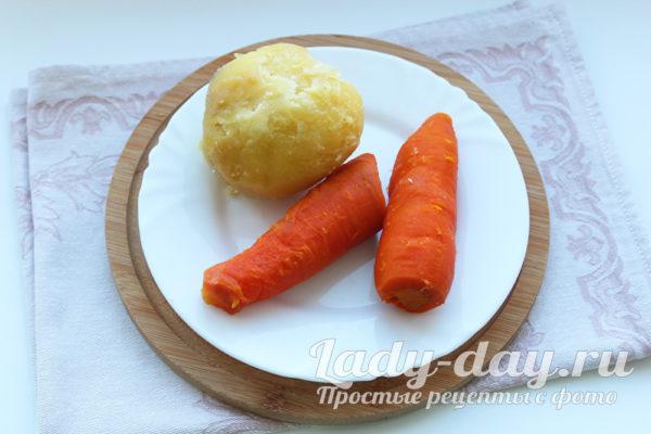 картошка и морковь