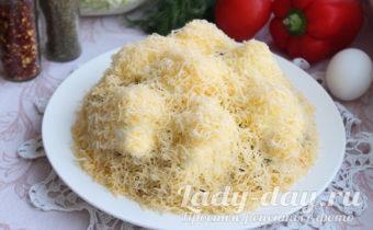 салат сугробы пошаговый рецепт с фото с курицей