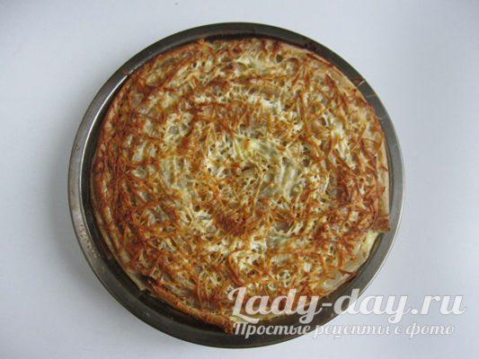 Запеканка с грибами и макаронами в духовке, рецепт с фото
