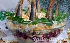 салат с шпротами рецепт с фото очень вкусный