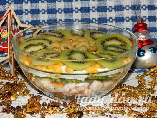 салат с кивии простой и вкусный рецепт
