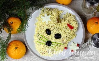 Новогодний салат Мышка 2020