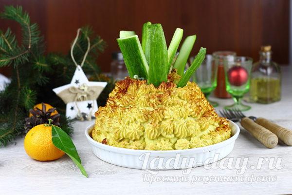 мясной торт ананас