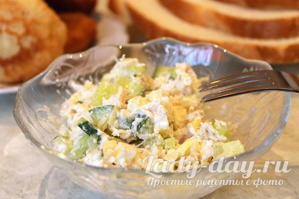 салат Фазан с омлетом