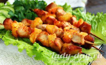 шашлык из курицы в духовке на шпажках рецепт