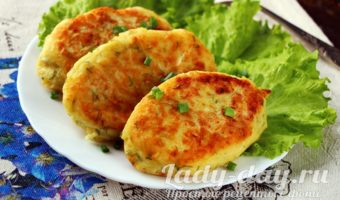 Картофельные зразы с курицей и сыром