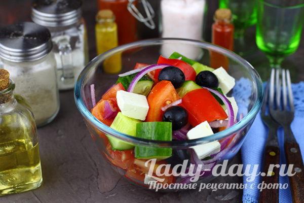 рецепт салата греческий классический с фото пошагово