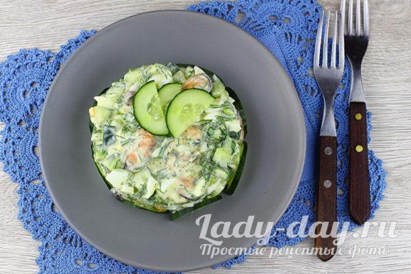 салат с мидиями рецепт с фото
