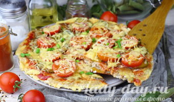 пицца с фаршем помидорами и сыром рецепт с фото