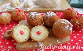 творожные пончики жареные в масле рецепт с фото