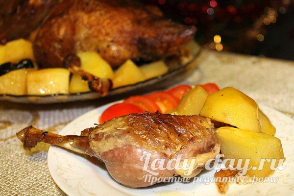 утка и картошка