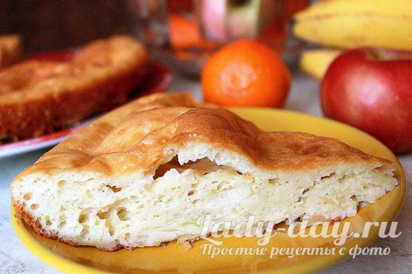 заливной пирог с капустой на скорую руку в духовке